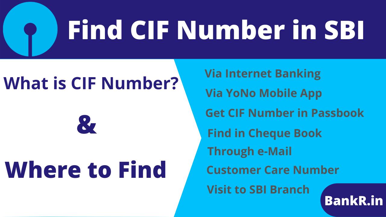 Find CIF Number in SBI