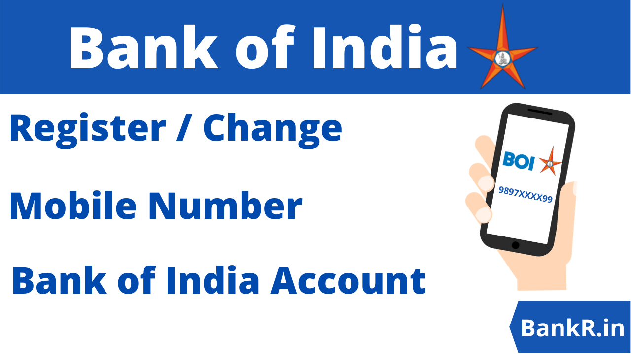 change mobile number in bank of india