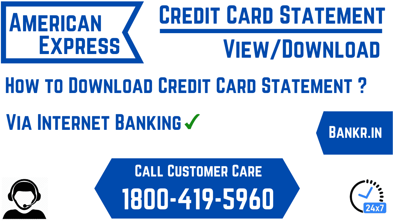 american express credit card statement