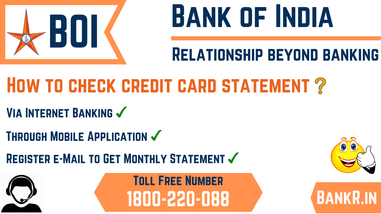bank of india credit card statement