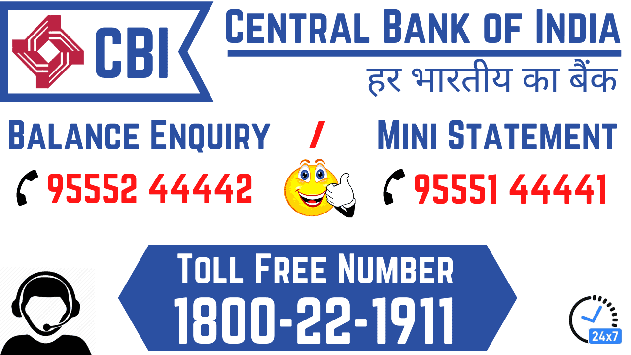 central bank of india balance enquiry mini statement number