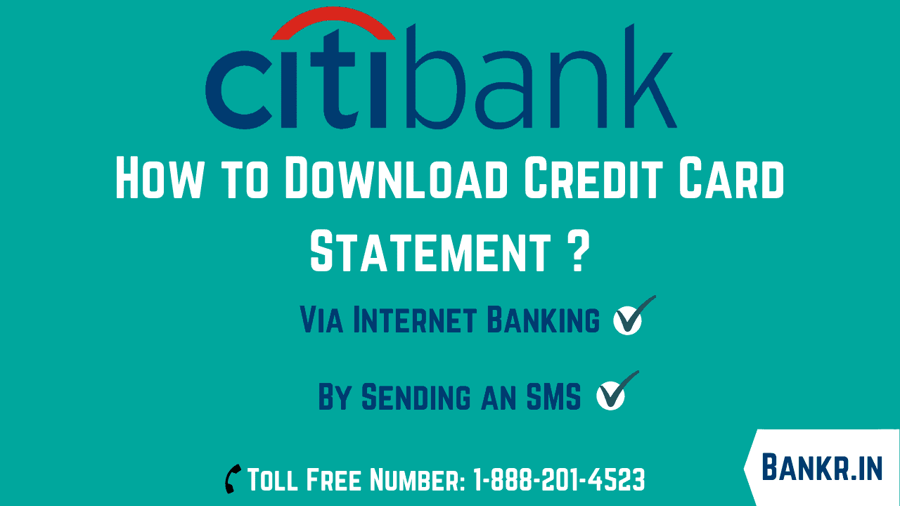 citi bank credit card statement download online