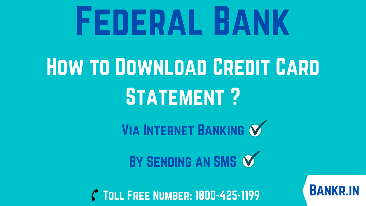 federal bank credit card statement download