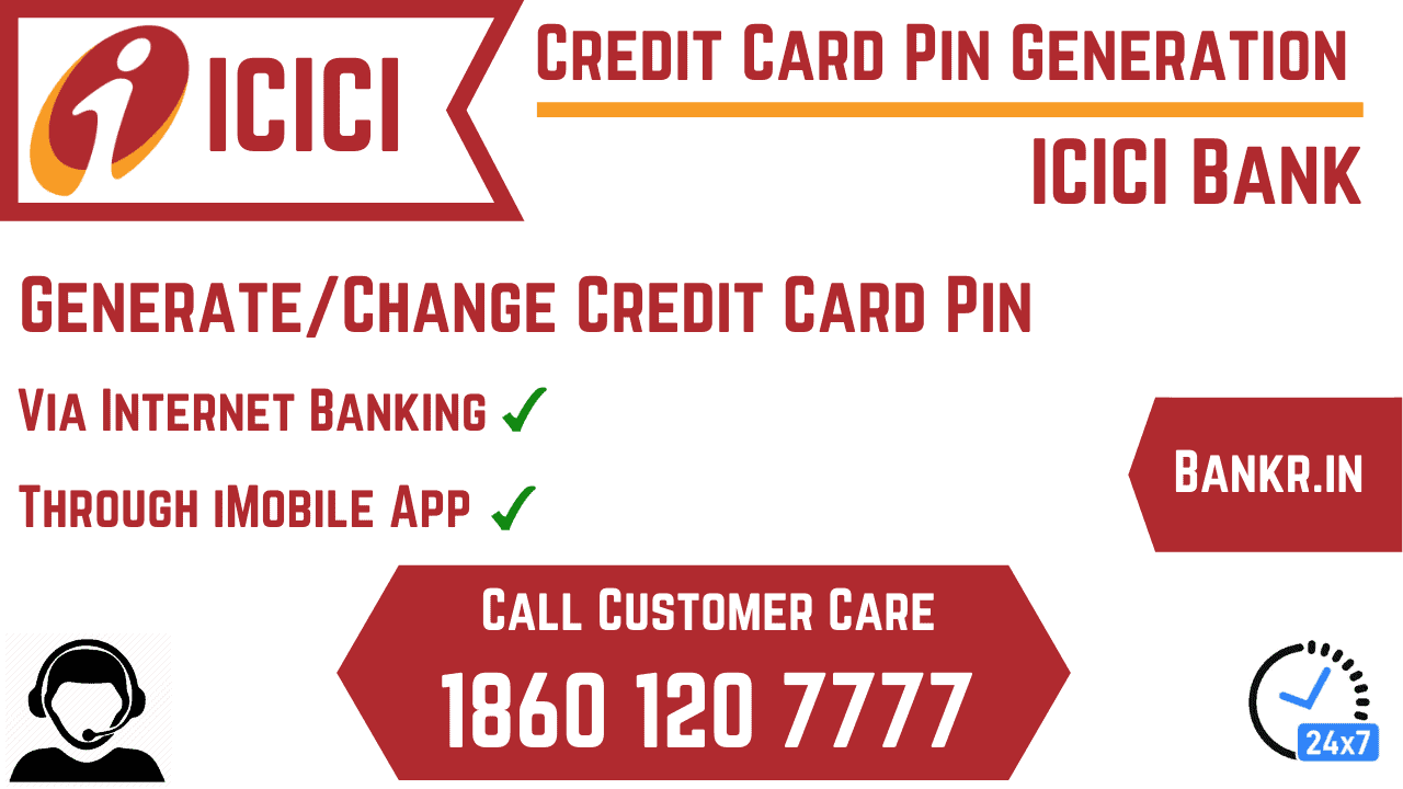 generate change icici credit card pin online