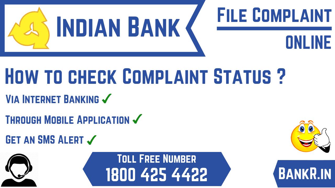 indina bank complaint status