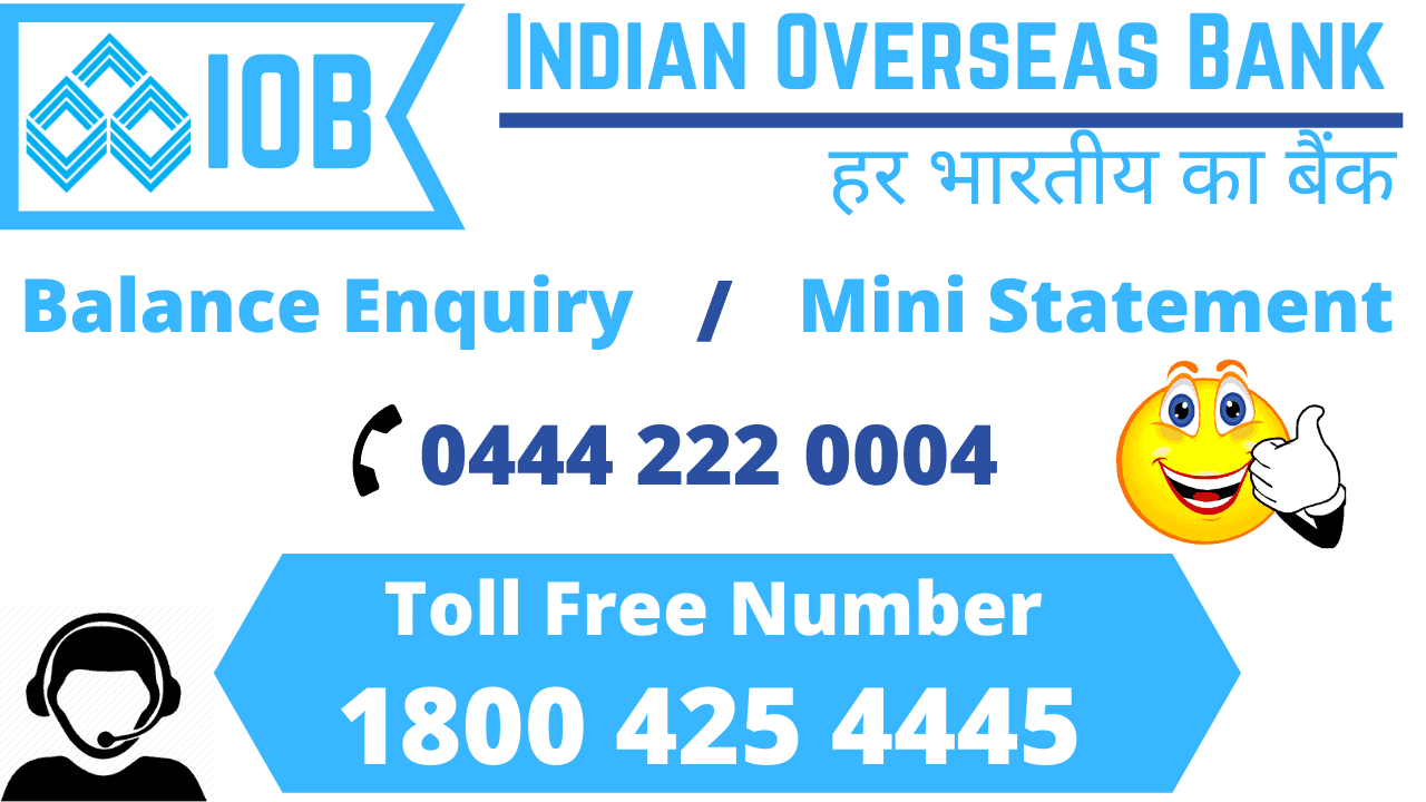 indian overseas bank balance enquiry mini statement