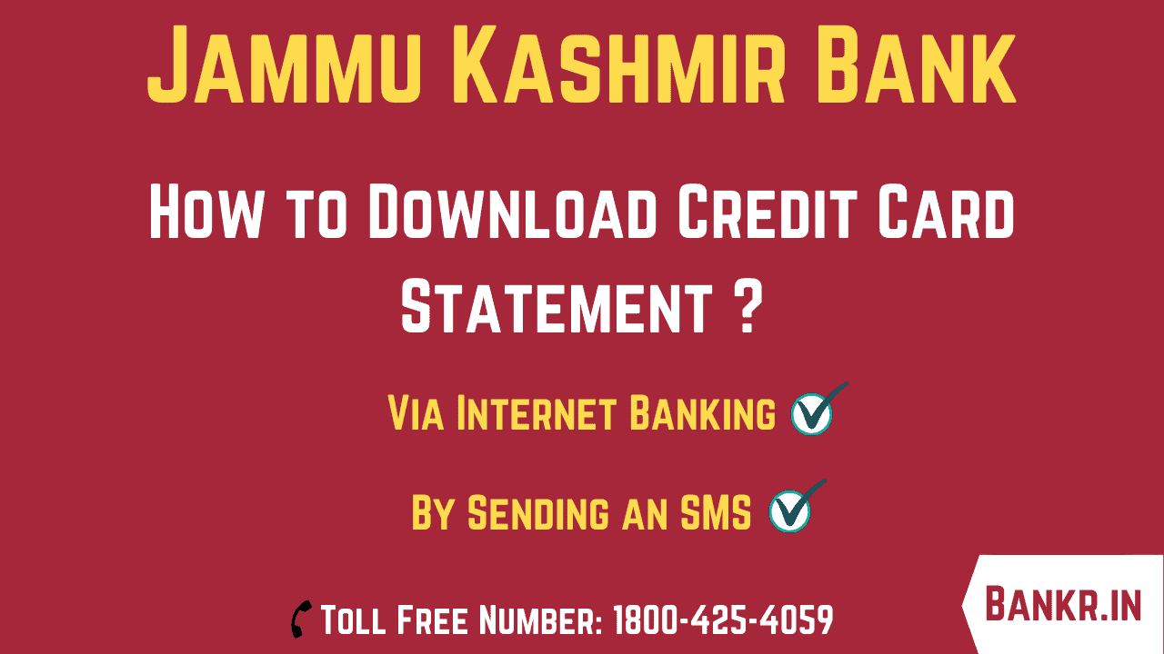 jammu kashmir bank credit card statement
