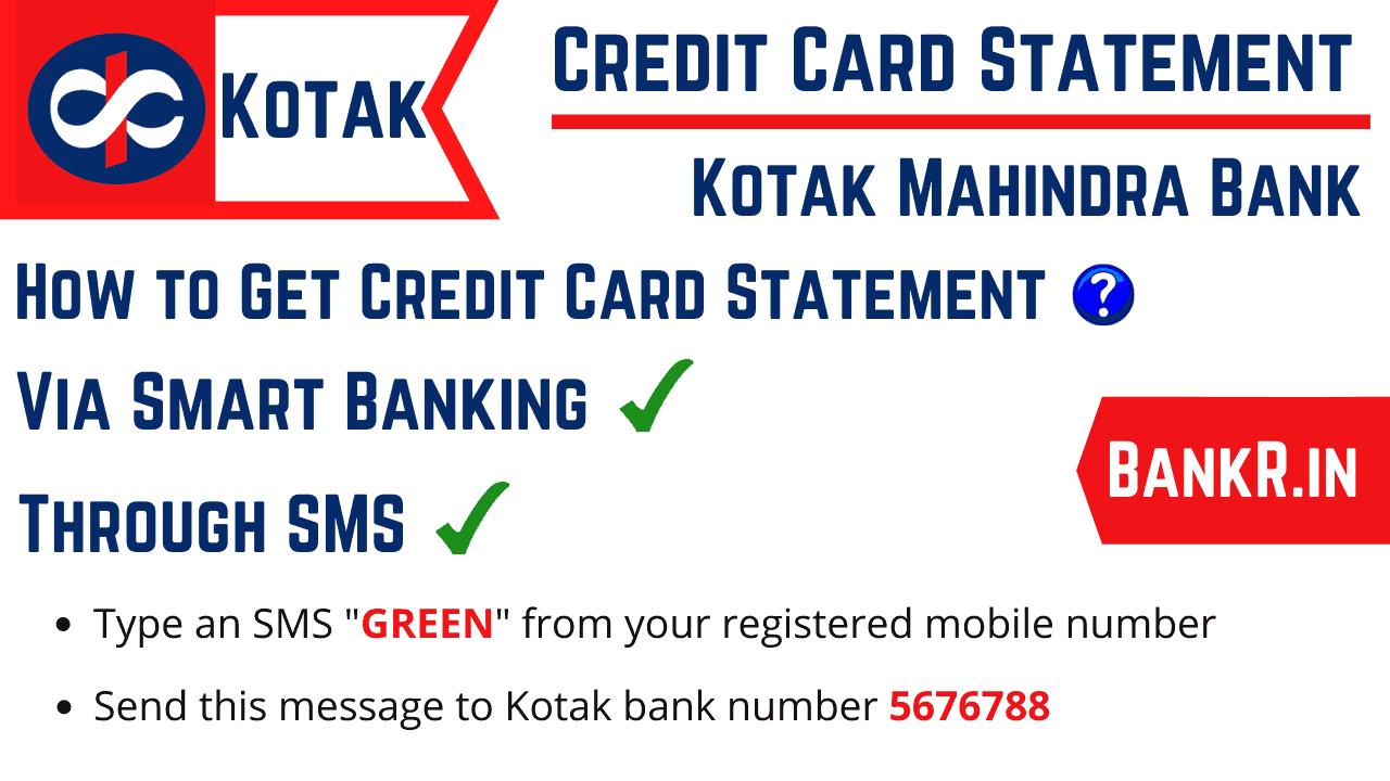 kotak mahindra bank credit card statement
