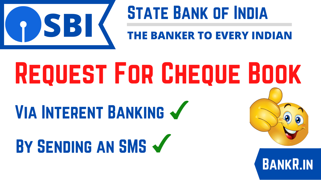 request for sbi cheque book