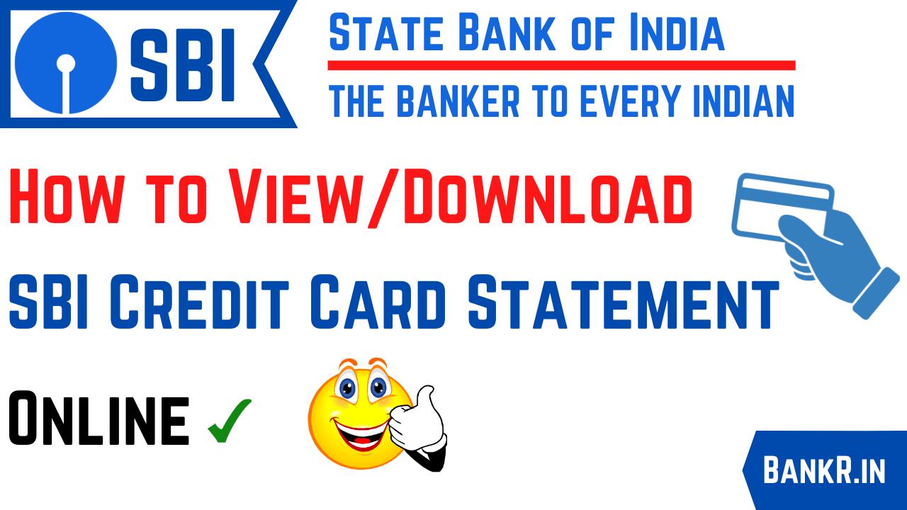 sbi credit card statement