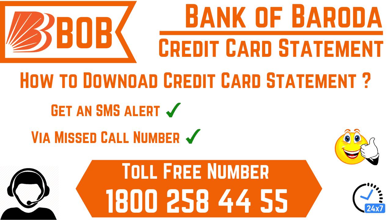 bank of baroda credit card statement