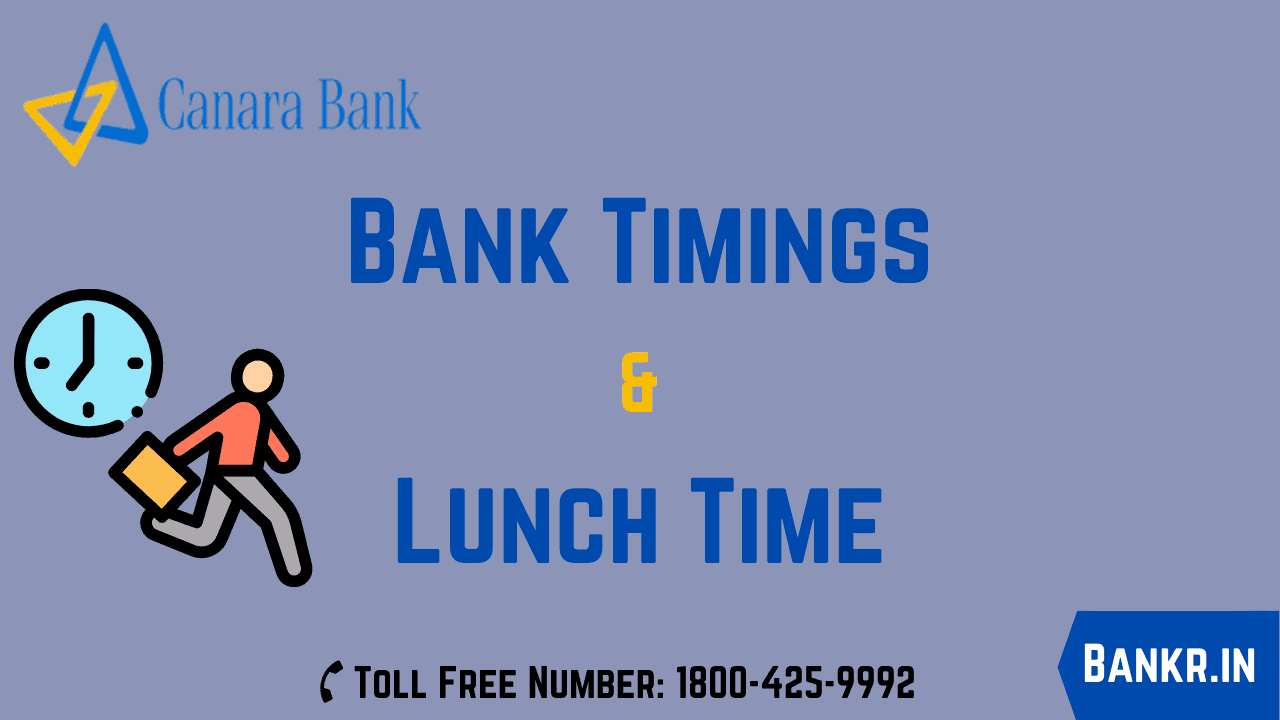 canara bank timings working hours