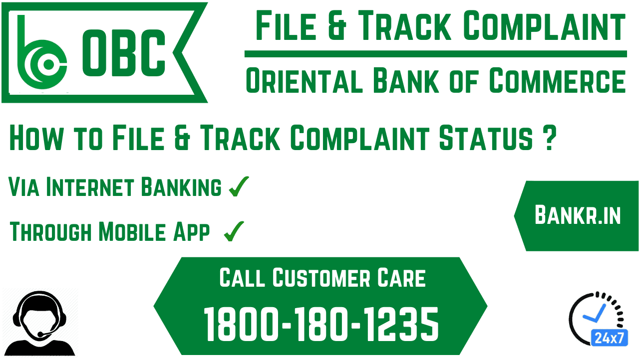 oriental bank of commerce complaint status