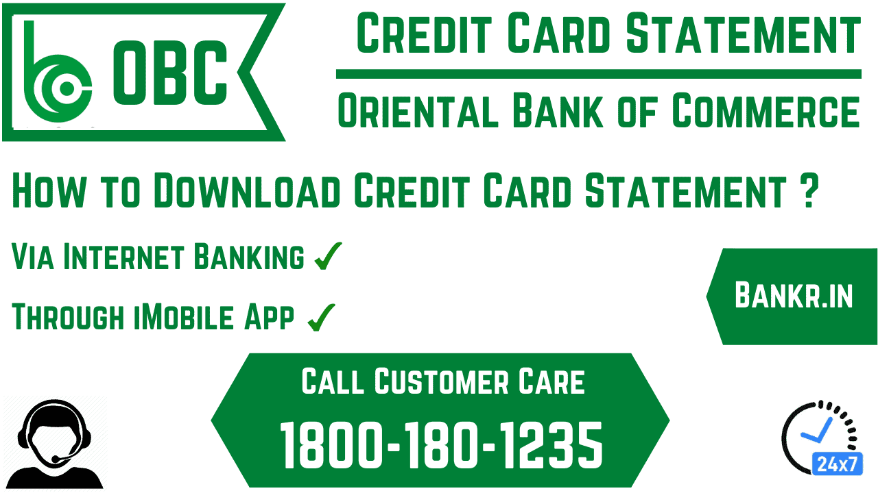 oriental bank of commerce credit card statement