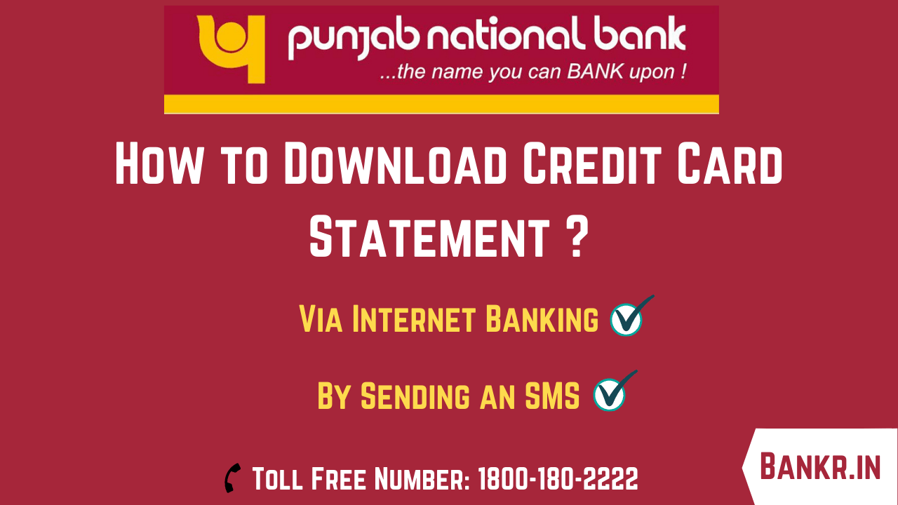 punjab national bank credit card statement download online