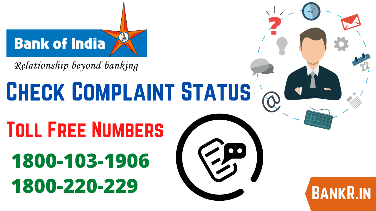 bank of india complaint status