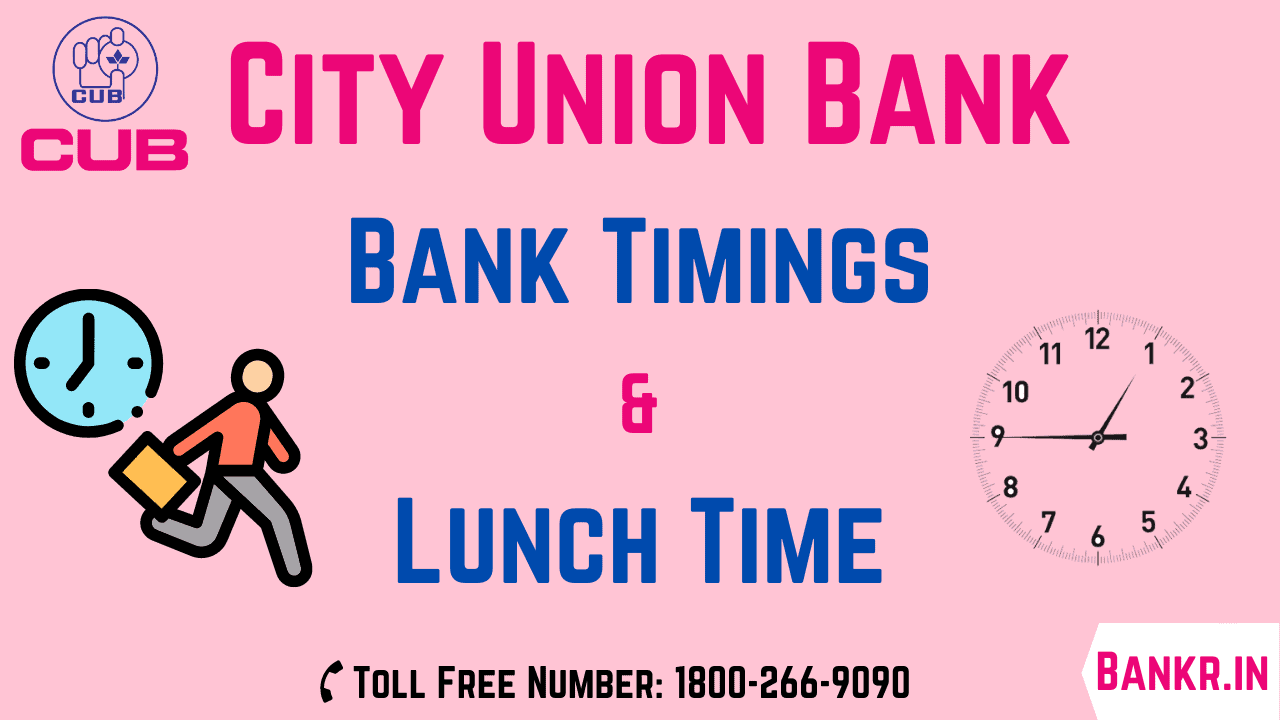 city union bank timings