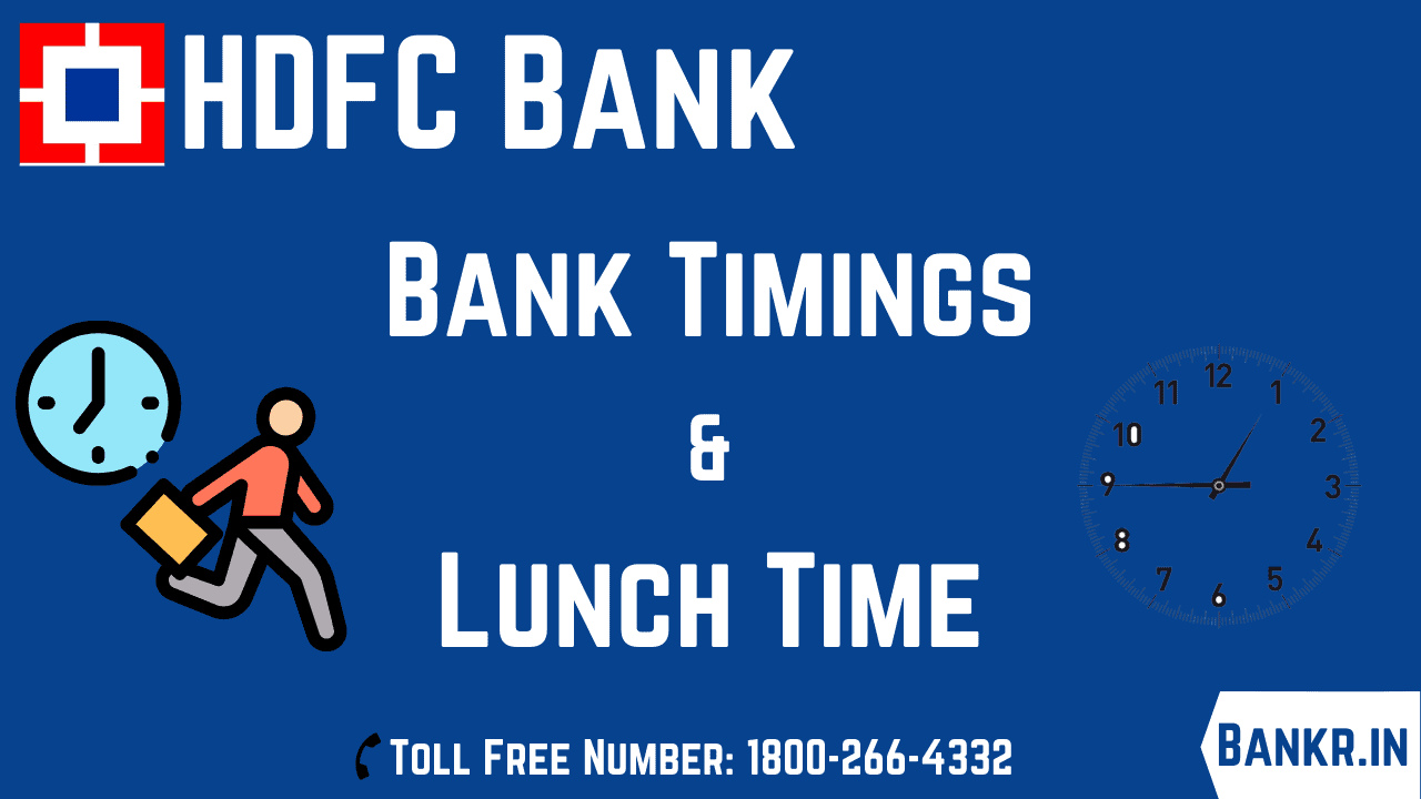 hdfc bank timings