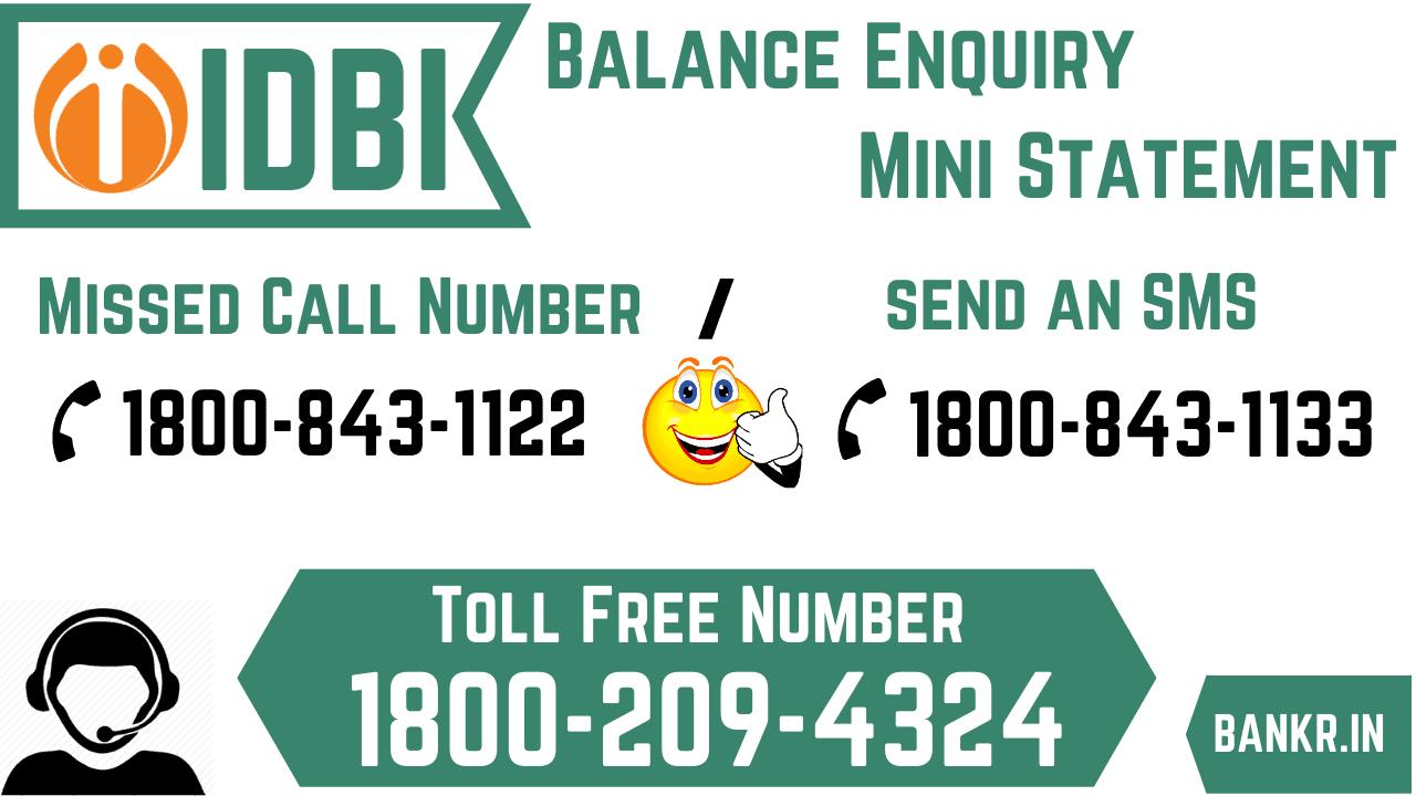 idbi bank balance enquiry number