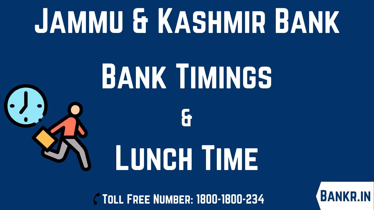 jammu and kashmir bank timings