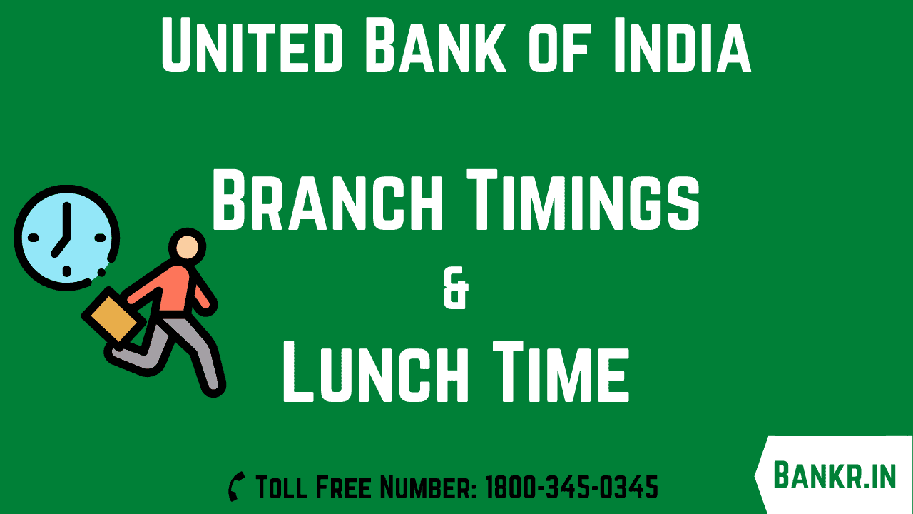 united bank of india timings
