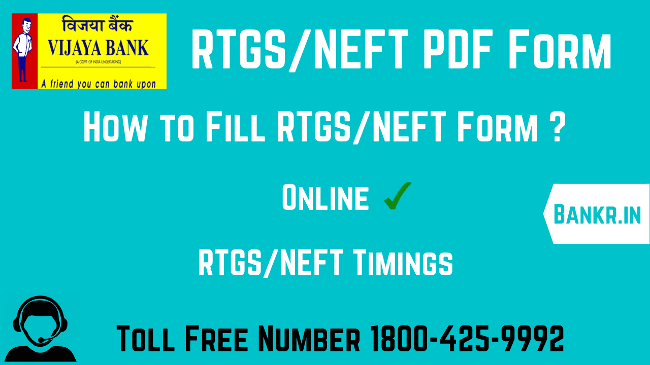 vijaya bank rtgs form pdf