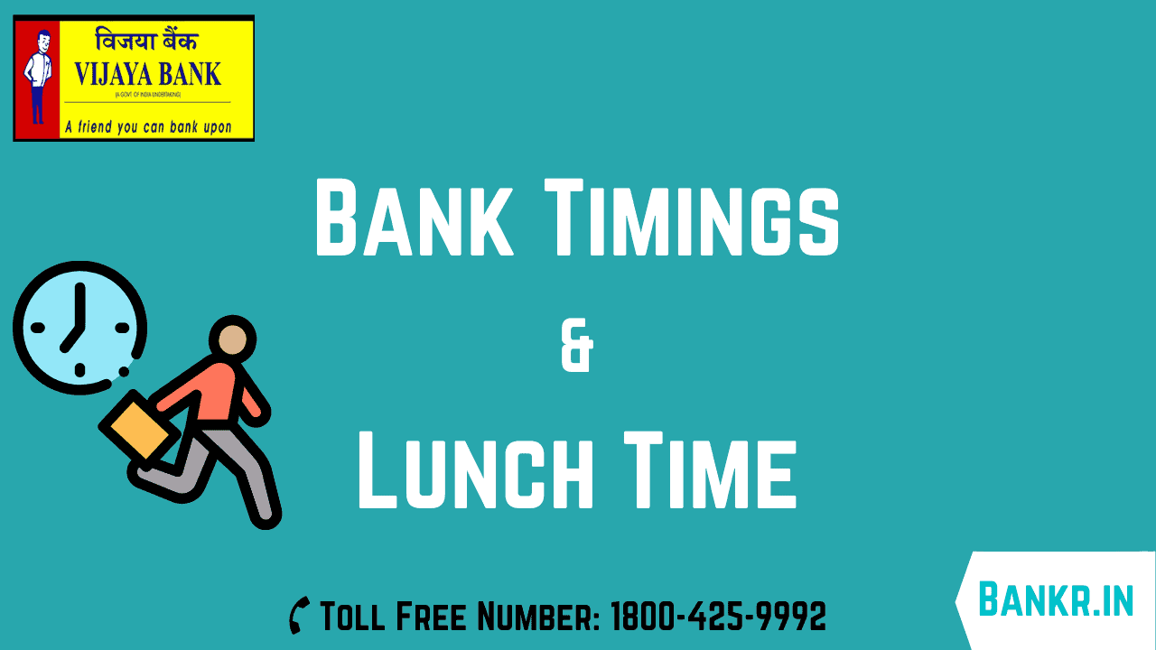 vijaya bank timings working hours