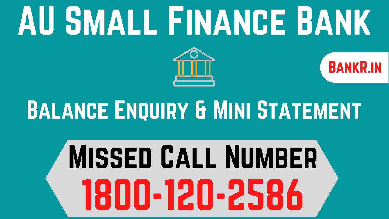 au small finance bank balance enquiry number