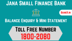 jana small finance bank balance enquiry number