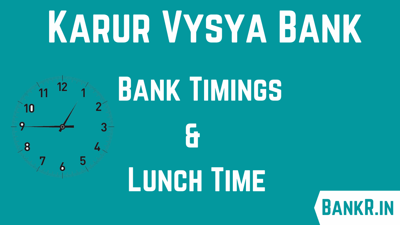 karur vysya bank timings