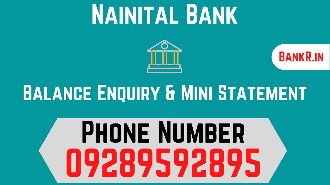 nainital bank balance enquiry number