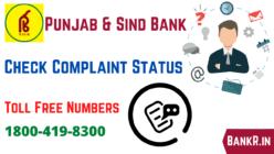 punjab and sind bank complaint status