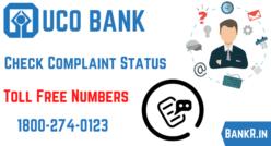 uco bank complaint status