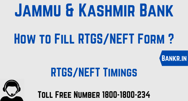 jammu and kashmir bank rtgs neft pdf form download