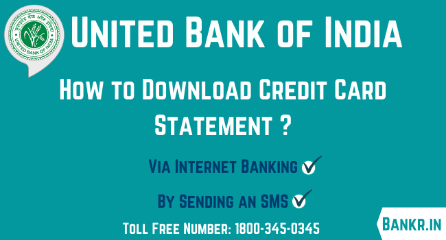 united bank of india credit card statement