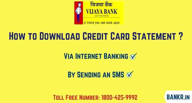vijaya bank credit card statement