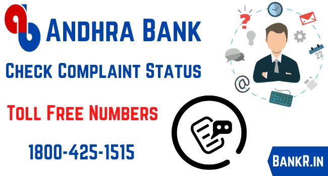 andhra bank complaint status