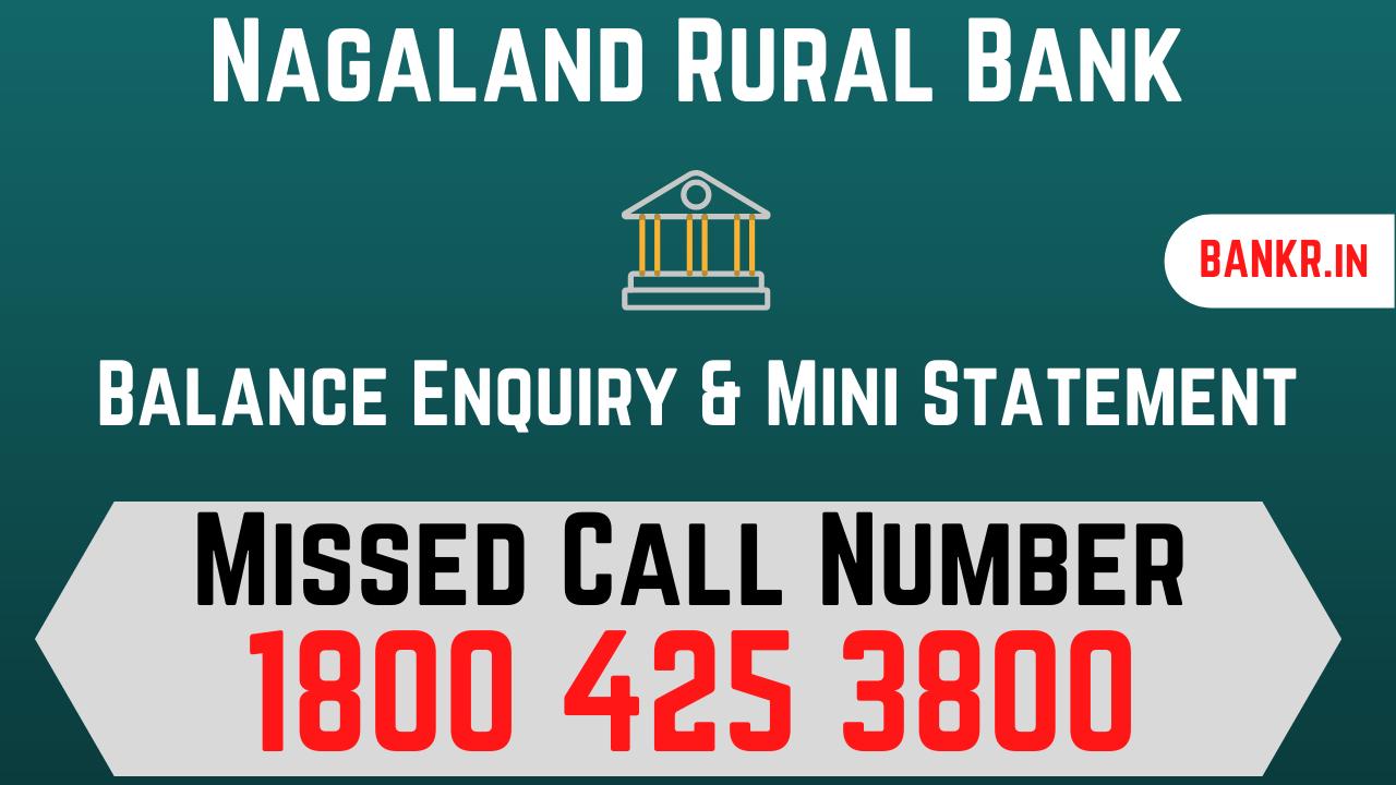 nagaland rural bank balance check number