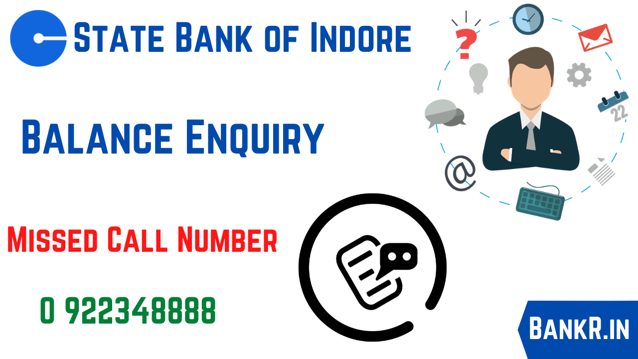 state bank of indore balance enquiry number