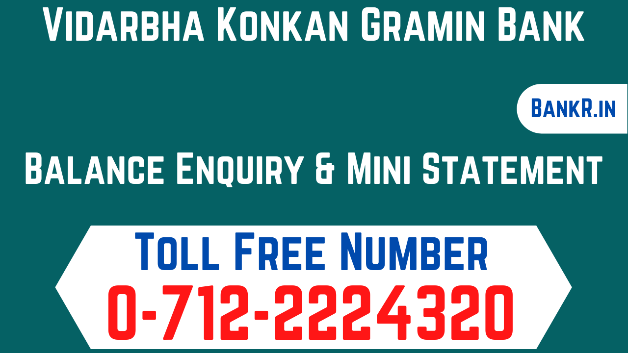 vidarbha konkan gramin bank balance enquiry number