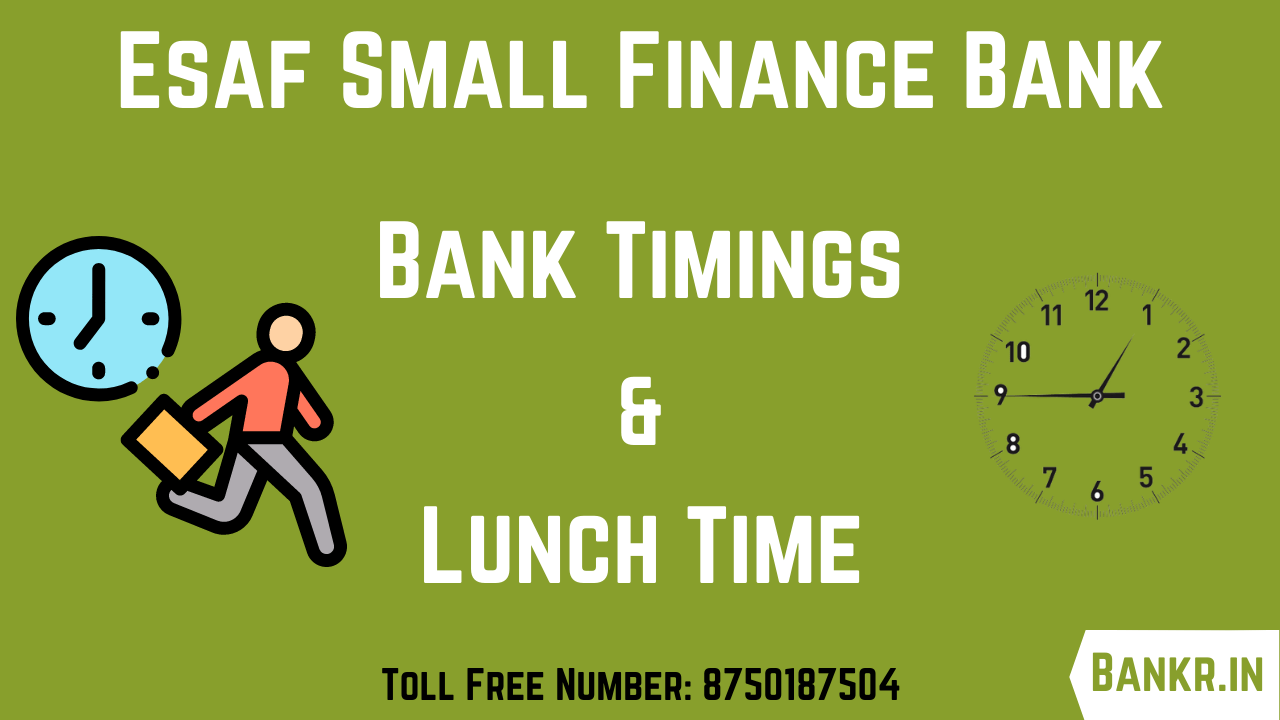 esaf small finance bank timings