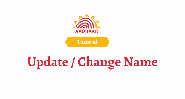 aadhaar card name change
