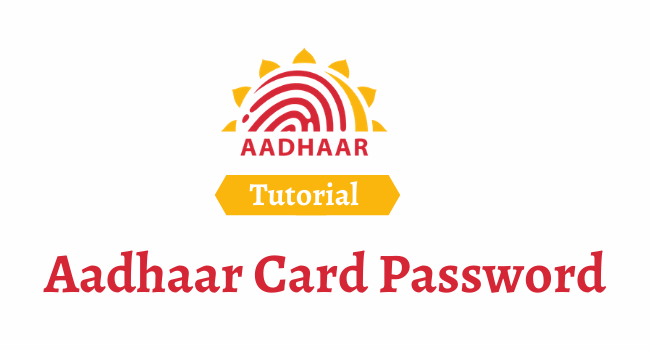 aadhaar card password