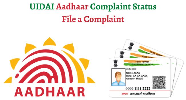 uidai aadhaar complaint status