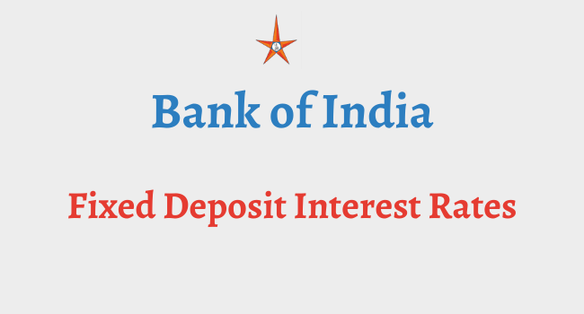 bank of india fd interest rates