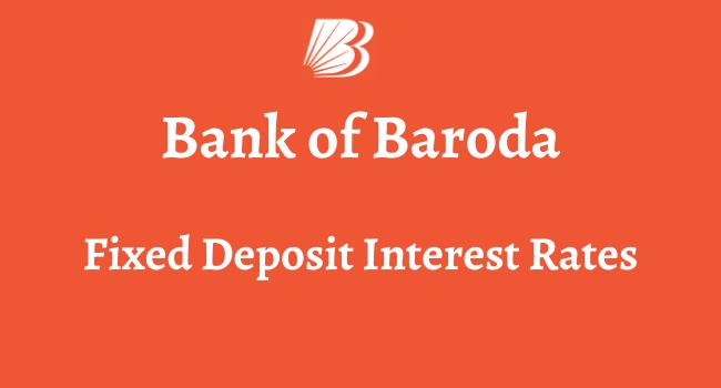 bob fd interest rates