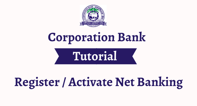 corporation bank net banking registration