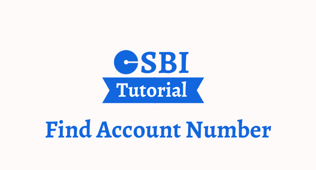 find sbi account number