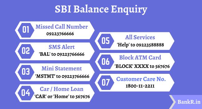 sbi balance enquiry number