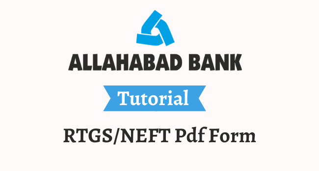 allahabad bank rtgs neft pdf form